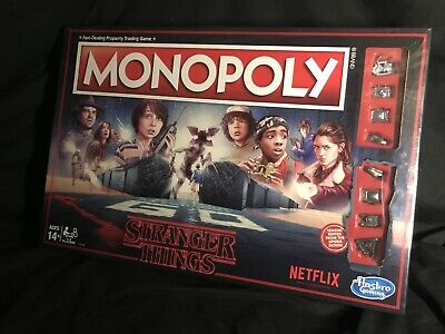 Stranger Things Monopoly NEW Netflix Upside Down Board Game Sci-Fi Series