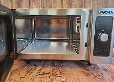 Solwave Stainless Steel Commercial Microwave with Dial Control model 180MW1000D