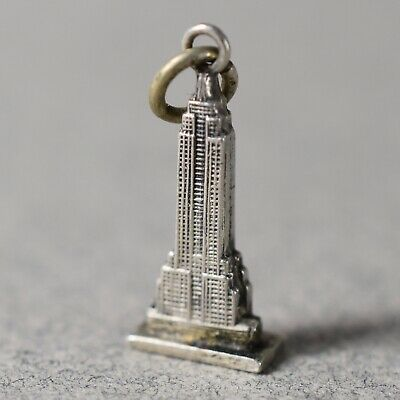 Empire state building sterling silver charm .925 x 1 USA US charms SSLP1260