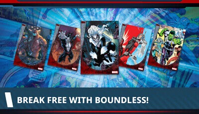 Topps Marvel Collect Card Trader Boundless Series 1 Set of 10 + Awards