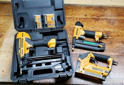 Stanley Bostitch 18 & 16 gauge Brad Air Nailer and 3/8 Air Stapler lot