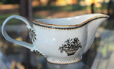18Th Century Antique Chinese Export Porcelain Gravy Dish Boat Bowl Made 4 Europe