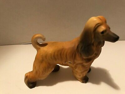VINTAGE AFGHAN HOUND DOG Porcelain FIGURINE Estate find unmarked