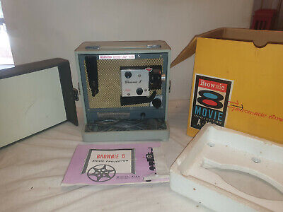 Vintage Kodak Brownie A-15G 8mm Movie Projector Box with Instructions