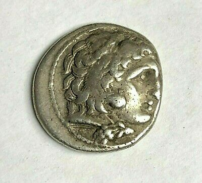 323-317 BC Philip III of Macedon Silver Drachm Coin, Half-Brother of Alexander