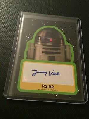 2019 Topps Star Wars Journey to The Rise of Skywalker Auto Jimmy Vee as R2-D2