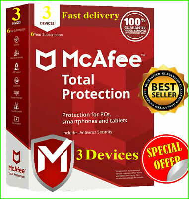 Download McAfee Total Protection 2020 3 🔥 Device 6 Year Instant Delivery 📥