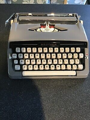Vintage Brother Portable Typewriter with Case. Excellent Condition.