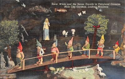 LOOKOUT MOUNTAIN, TN Tennessee  SNOW WHITE~7 DWARFS~Fairyland Caverns  Postcard