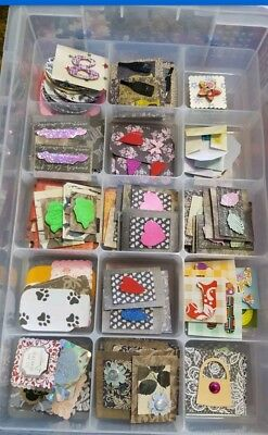 💜SURPRISE💛  OVER 45 MIXED TOPPERS CRAFT CARDMAKING 💟vintage💜shabby chic