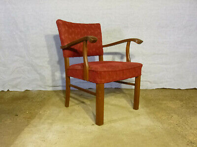 EB377 Danish Oak Elbow Chair Vintage Retro Mid-Century Modern