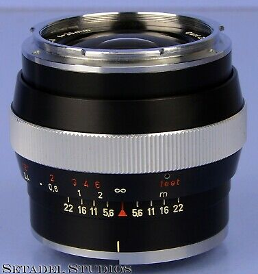 Contarex Zeiss 25Mm Distagon F2.8 Lens Black Finish Rare Near Mint