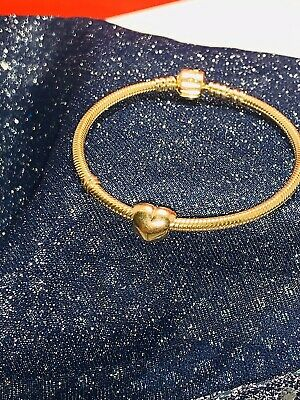 Authentic PANDORA solid 14kt Yellow gold HEART charm