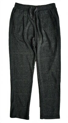 ZARA Girls Pants Casual Trousers Dog Tooth Bottoms Slim Leg Relaxed 8 Girl £14.9