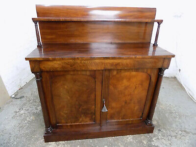 antique,victorian,mahogany,gallery,chiffonair,sideboard,cabinet,drawers,pillars