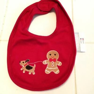 NWT Gynboree set of 3 bibs for baby with gingerbread man & dog