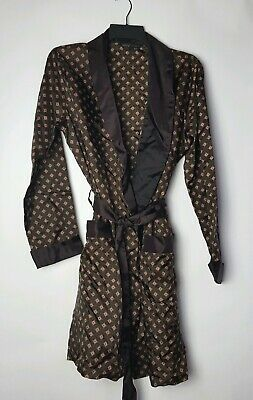 Vintage MENS St Michael Dressing Gown Robe Made in UK  Triacetate  Small Petite