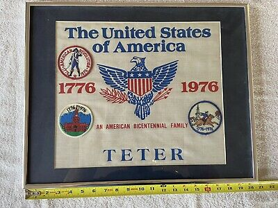 1776-1976 Vintage BICENTENNIAL PATCH SIGN The United States Of America RARE!! E2