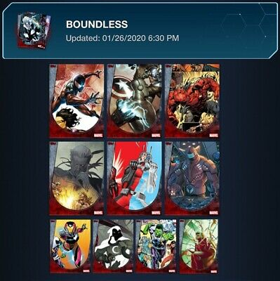 Boundless-10 Card Series 1 Set-Topps Marvel Collect Digital