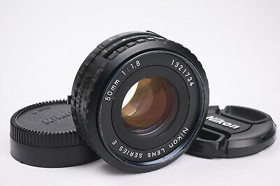 Nikon Series E 50mm F1.8 Pancake Lens - Complete with Caps, Clean