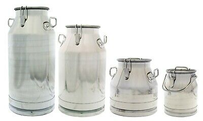 Stainless Steel Milk Can, Heavy Duty with Sealed Lid,  304 SS