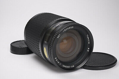 Tokina 60-300mm Telephoto Zoom Lens for Nikon AF - Nice Condition