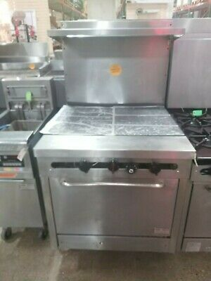 Southbend Commercial Hot Top Gas Range With Standard Oven