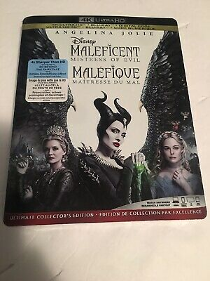 Maleficent Mistress of Evil 4K Ultra HD, Blu Ray with Slipcover New Release NWT