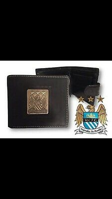 Manchester City FC Official Football Leather Wallet Embossed