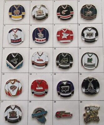 Different Teams Hockey Ihl Echl Del Ushl Or Else Logo + Pin (Your Choice) # G717