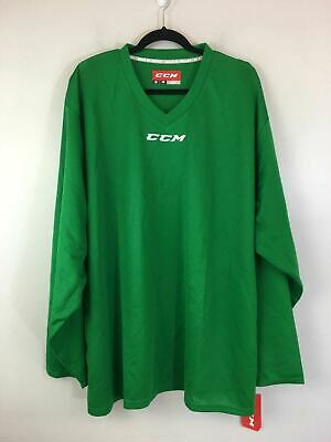 GC//SR CCM Men/'s 5000 PRACTICE Kelly Green LONG SLEEVE GOALIE JERSEY NWT