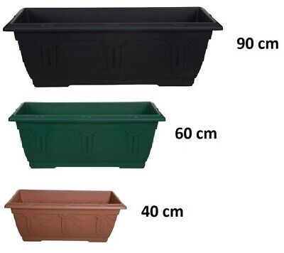 Plastic  Rectangular Venetian Plant Flower Pot Pots Planter Container