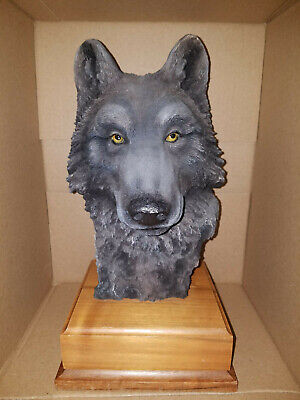 "Vintage 1992 Paul R. Carrico ""Vanishing"" Signed LE 180/3000 Wolf Sculpture"