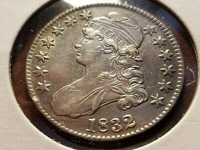 1832 Capped Bust Silver Half Dollar, full date, full liberty     INV12   H1241