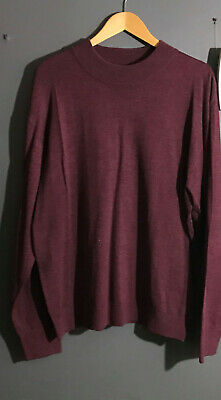 Mens Inserch Mock Neck Pullover Knit Soft Cotton Blend Sweater Winter 4308 Brown