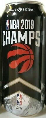 3 x Toronto Raptors 2019 NBA CHAMPIONS Limited Edition Coors Light Beer Can FULL