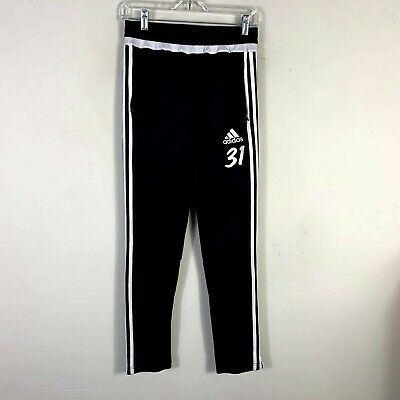 "Adidas Climacool Youth Boys Size L inseam 28"" Athletic Black Track Pants"
