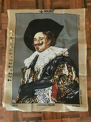 Unused vintage Anchor large tapestry canvas Laughing Cavalier Frans Hals 67 x 48