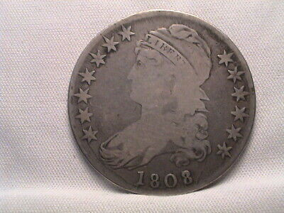 "1808/7  Capped Bust Half Dollar  ""Over-date"""