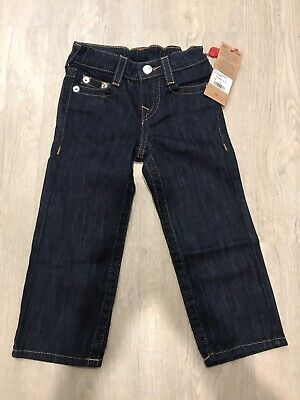 BNWT TRUE RELIGION JEANS KIDS TODDLER LITTLE BOYS STRAIGHT LEG Dark Blue 3T