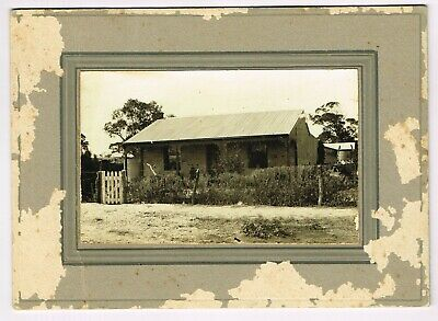 Antique Board Mounted Real Photo: 'Henry Hudson's House, West Terrace, Adelaide'