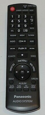 Genuine Used OEM Replacement PANASONIC N2QAYB000518 AUDIO SYSTEM Remote Control