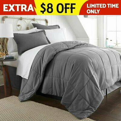 Luxury Hotel Down Alternative Bed in a Bag Comforter - Assorted Colors & Sizes