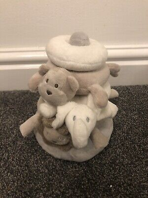 The Little White Company Animal Stacker Baby Soft Ring Toy Lion Monkey Elephant