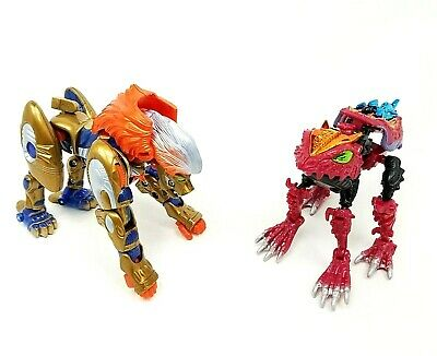 Transformers Beast Machines Snarl Lion Robots In Disguse Slapper Frog Toys Lot