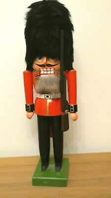"Vintage Erzgebirge -German Nutcracker English Watch Soldier ""Wachsoldat"" 12"" H"