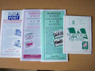 Norfolk Islands,4 Different Booklets For Local Issues,Scarce.