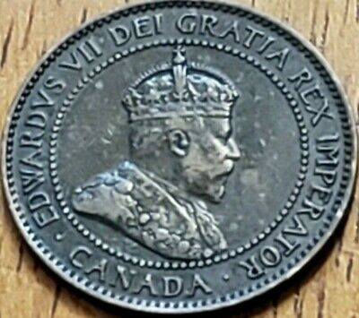 Canada 1907-H One Cent F **Check it Out** KM# 8 #AA298-5
