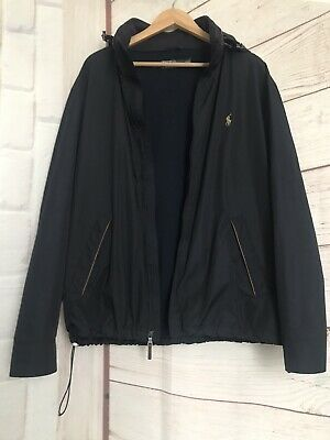 Polo By Ralph Lauren Full-Zip Performance Hooded Jacket Black Size XL