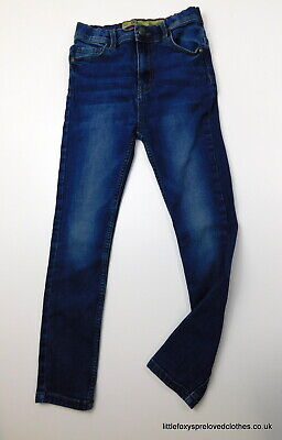 9-10 year Denim&Co boys blue jeans straight denim trousers